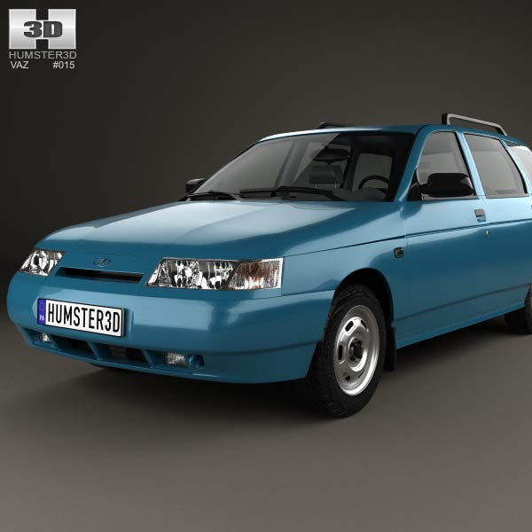 VAZ Lada 2111 wagon 1995 3D model for Download in various