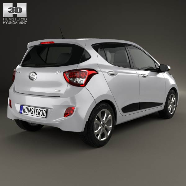 hyundai i10 2014 3d model for download in various formats. Black Bedroom Furniture Sets. Home Design Ideas