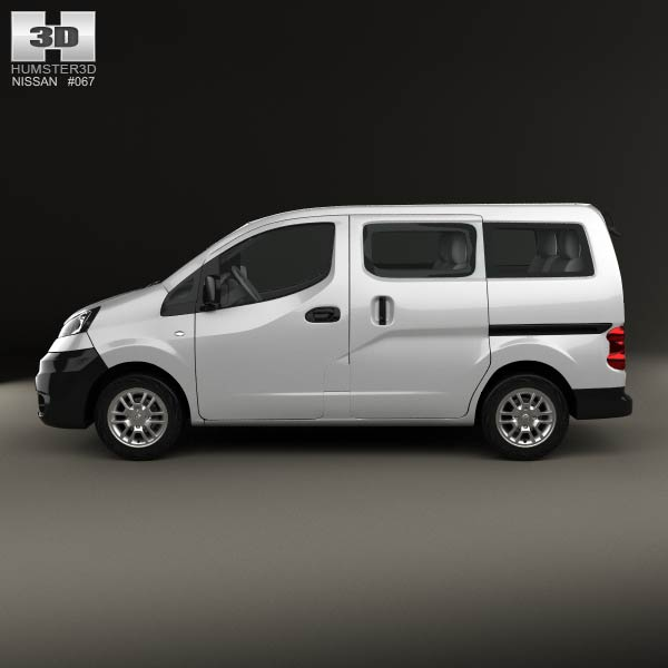 nissan nv200 combi 2011 3d model for download in various. Black Bedroom Furniture Sets. Home Design Ideas