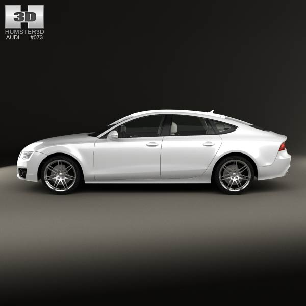 Audi A7 Sportback With HQ Interior 2011 3D Model For