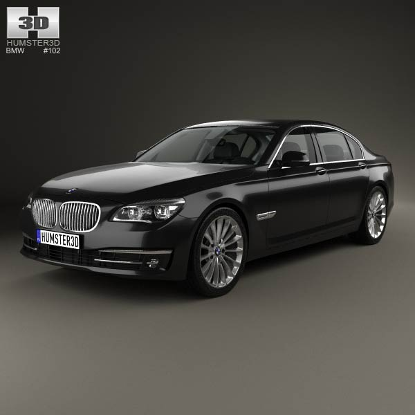 BMW 7 Series (F02) With HQ Interior 2013 3D Model For