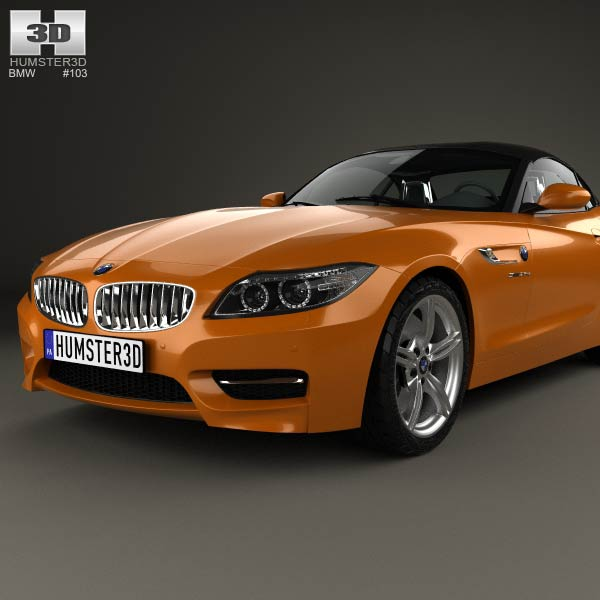 Bmw Z4 Convertible: BMW Z4 (E89) Roadster 2013 3D Model For Download In