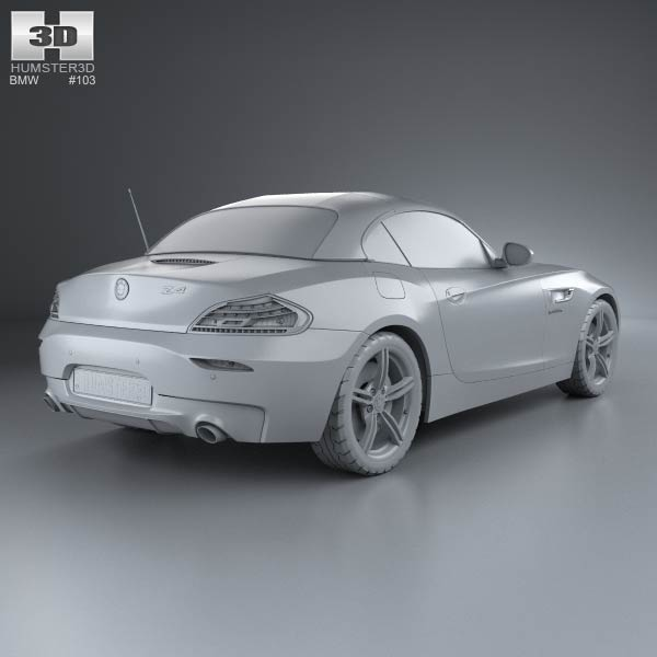 Bmw Z4 Convertible Sports Car: BMW Z4 (E89) Roadster 2013 3D Model For Download In