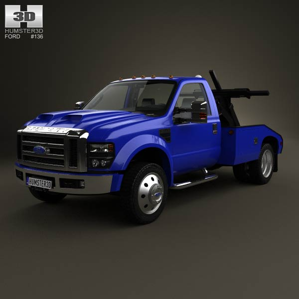Ford Super Duty F 550 Tow Truck With Hq Interior 2005 Model