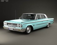 Ford Galaxie 500 4-door hardtop with HQ interior 1963