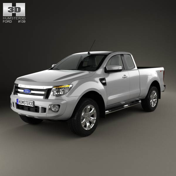 Ford Ranger Super Cab 2011 3D Model For Download In