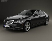 Mercedes-Benz S-Class (W221) with HQ interior 2013