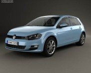 Volkswagen Golf 5-door with HQ interior 2013