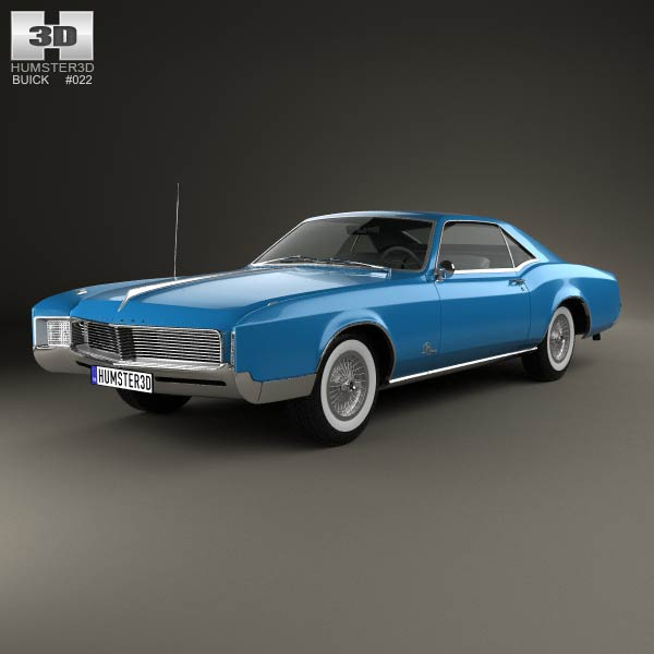 342 Best Images About Buick Riviera 1963 1964 1965 On: Buick Riviera 1966 3D Model For Download In Various Formats