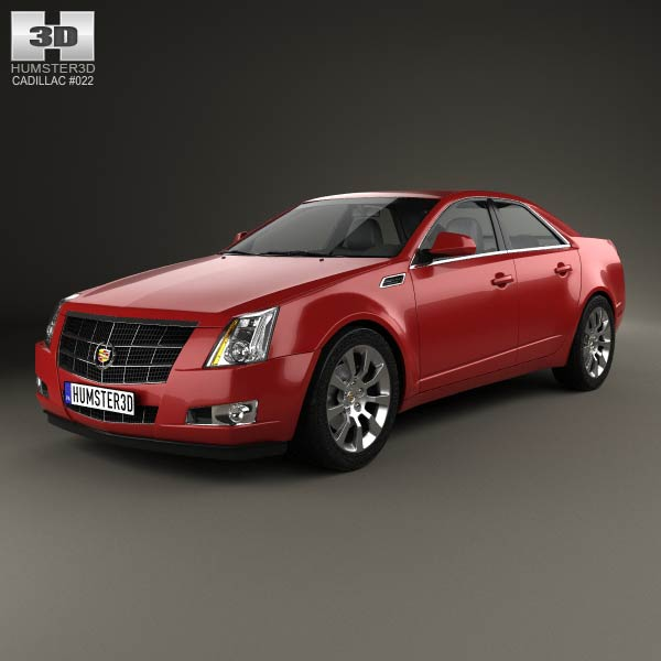 Cts Cadillac Sedan: Cadillac CTS 2008 3D Model For Download In Various Formats