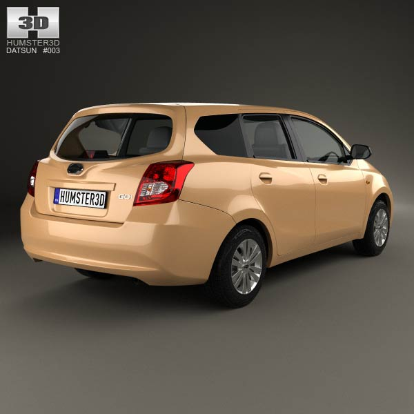 Datsun GO plus 2014 3D model for Download in various formats