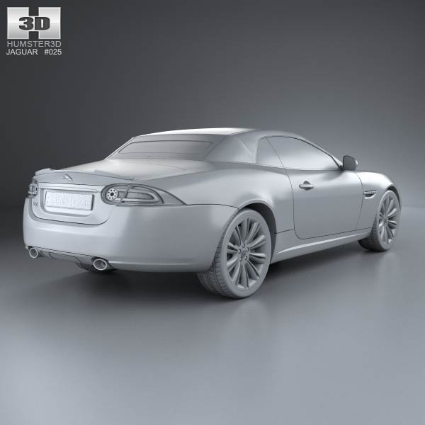 Jaguar Xk Convertible: Jaguar XK Convertible 2011 3D Model For Download In