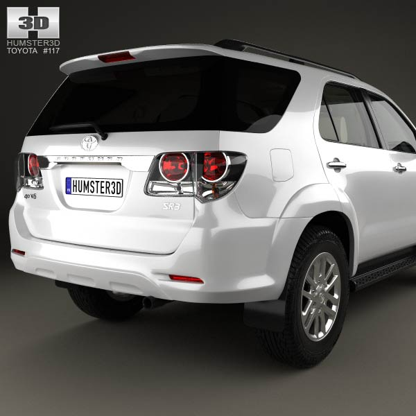 toyota fortuner with hq interior 2013 3d model for