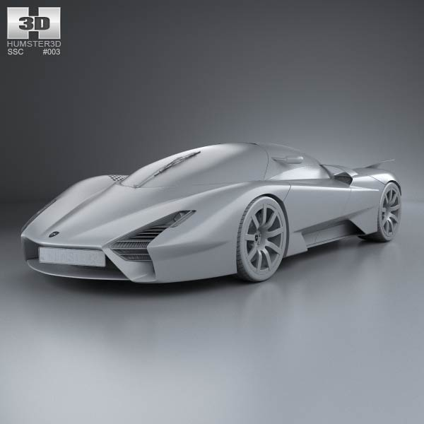 Ssc tuatara 2011 3d model for download in various formats for Architecte 3d 2011 ultimate