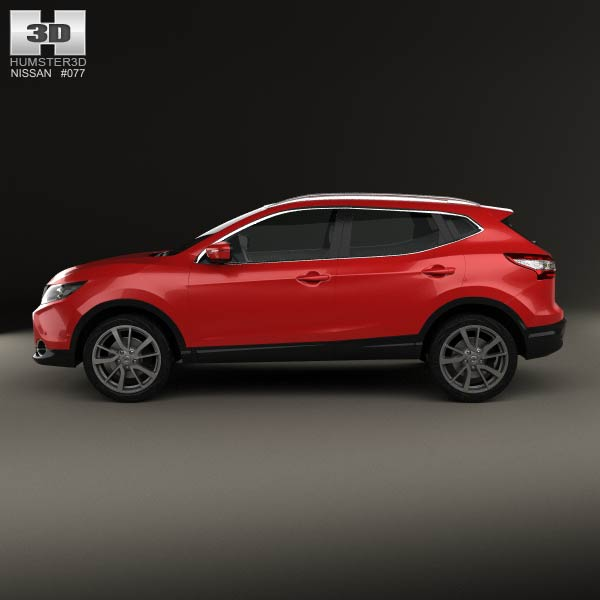 Nissan Qashqai 2014 3D model for Download in various formats