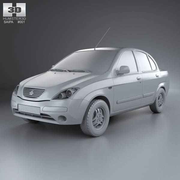 Saipa Tiba 2009 3D Model For Download In Various Formats