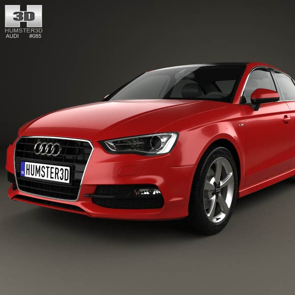 audi a3 s line sedan 2013 3d model for download in various formats. Black Bedroom Furniture Sets. Home Design Ideas