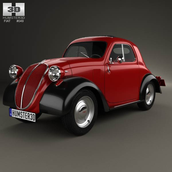 Fiat 500 Topolino 1936 3D Model For Download In Various