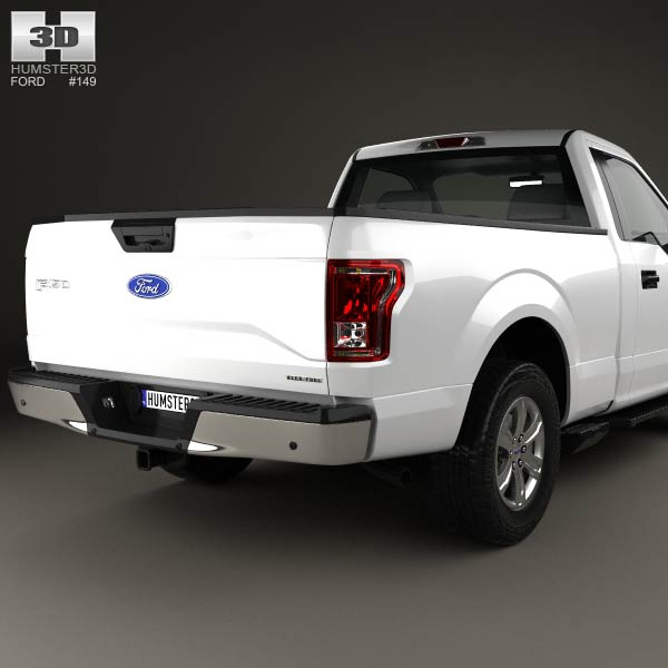 Ford F-150 Regular Cab XL 2014 3D Model For Download In