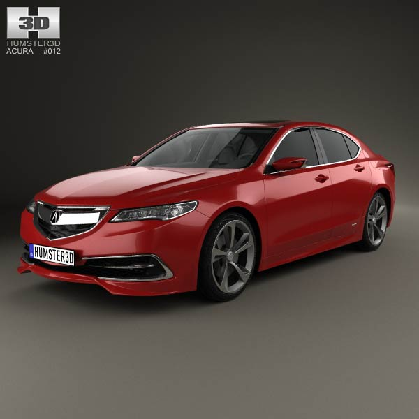 Acura TLX 2015 3D Model For Download In Various Formats