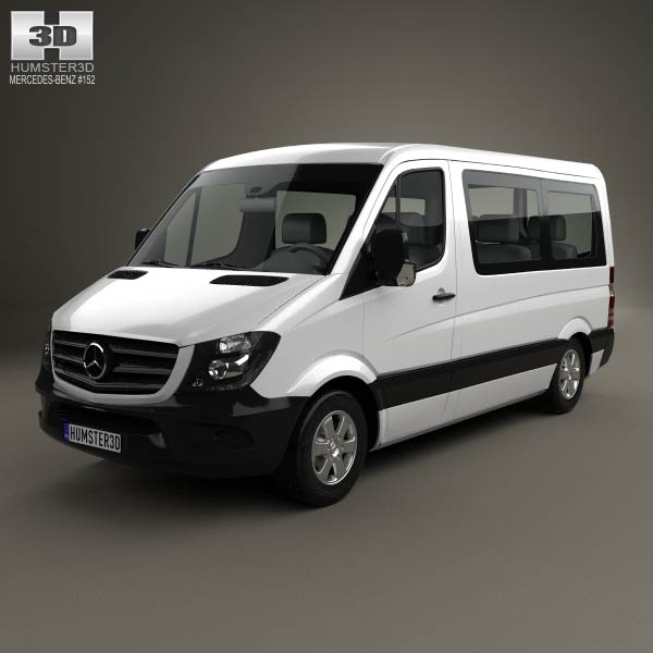 Mercedes benz sprinter passenger van cwb sr 2013 3d model for Mercedes benz font download