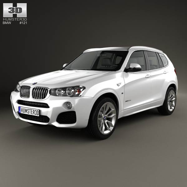 BMW X3 M Sport Package F25 2014 3D Model