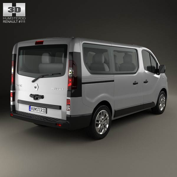 renault trafic passenger van 2014 3d model for download in. Black Bedroom Furniture Sets. Home Design Ideas