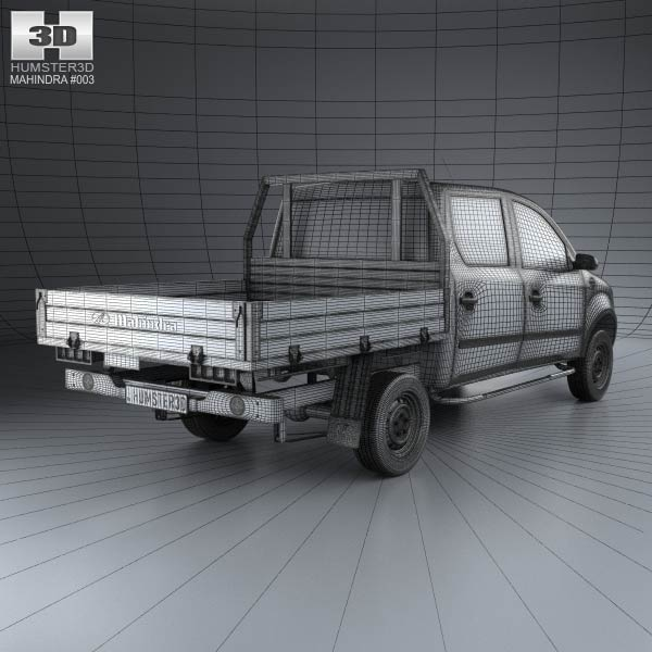 Mahindra Genio Dual Cab Pickup 2011 3D model for Download in various
