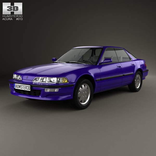 2005 Acura Tlx: Acura Integra 1990 3D Model For Download In Various Formats