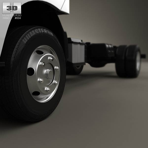 Hino 195 Hybrid Box Truck 2012 3d Model From Humster3d Com: Hino 300-616 Chassis Truck 2011 3D Model For Download In