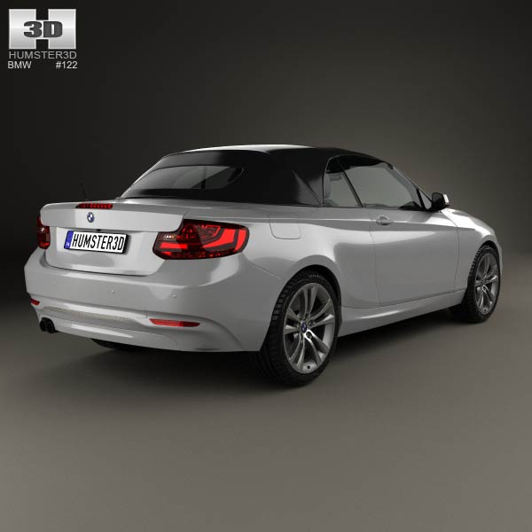 BMW 2 Series Convertible 2014 3D Model For Download In