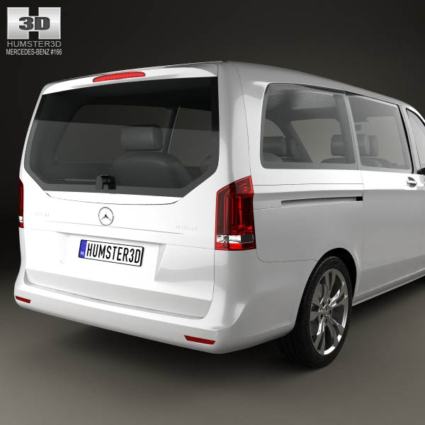Mercedes-Benz V-Class 2014 3D Model For Download In