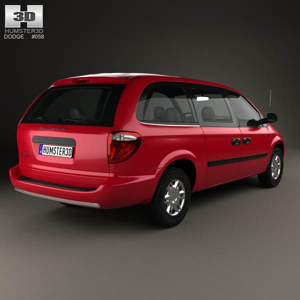 2008 Dodge Grand Caravan: Dodge Grand Caravan 2004 3D Model For Download In Various