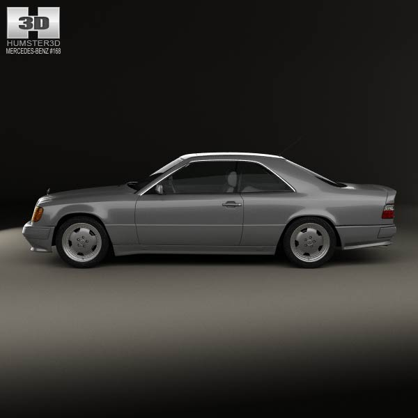 Mercedes-Benz E-class AMG Coupe 1988 3D Model For Download