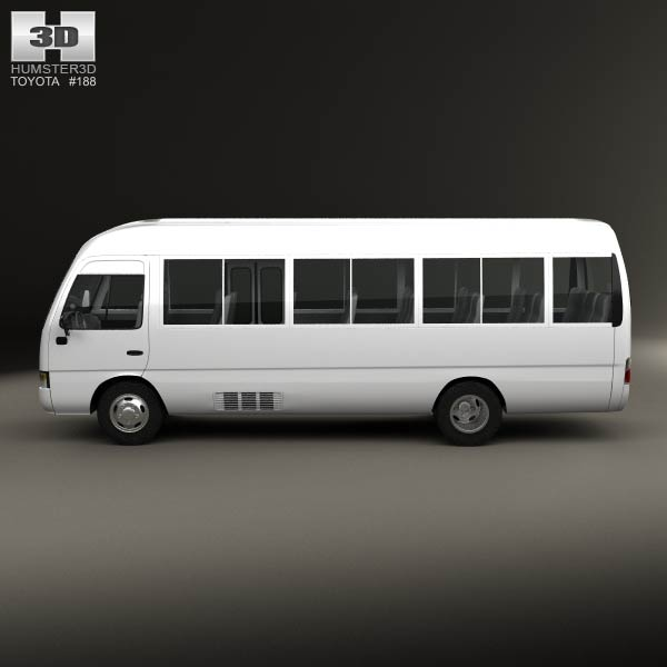 toyota coaster 2014 3d model for download in various formats