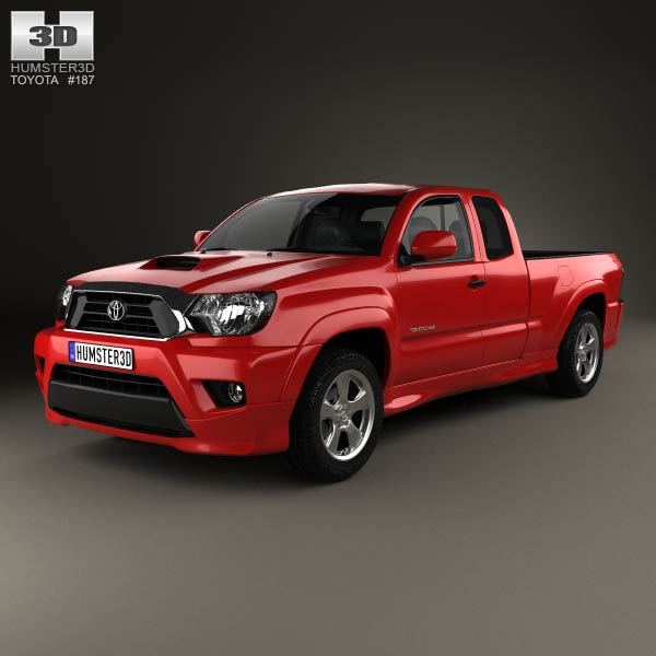 2012 Toyota Tacoma X Runner Toyota Tacoma X-Runner 2012 3D model for Download in various formats